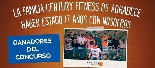 Ganadores concurso 17 aniversario Century Fitness