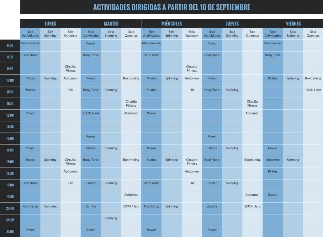 horario gimnasio century